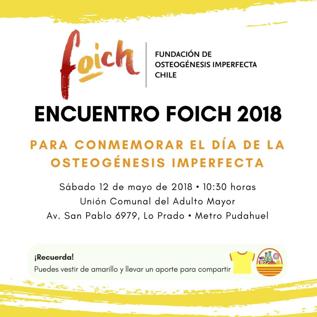 Invitación a Encuentro Foich 2018