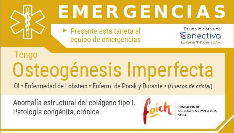 Presentan tarjeta de emergencias para personas con osteogénesis imperfecta